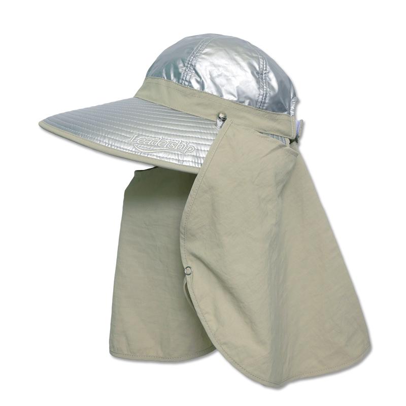 หมวกกันUV กันยูวี หมวกปิดหน้า ปิดคอ สีเบจ มีผ้า2ชิ้น คลุมหน้า by Season Tales