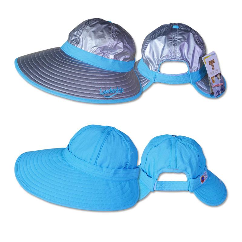 หมวกกันUV ปีกกว้างพิเศษ ใส่ได้ 2ด้าน (สีเงิน/ฟ้า) by Season Tales