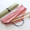 Japanese Chopsticks Spoon Set - ชุดตะเกียบช้อน พร้อมถุงผ้า ลายจุด