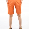 กางเกงขาสั้นผู้ชายสีส้มอิฐ ผ้าฟอกนิ่ม