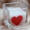 ชุดเทียนหอมวาเลนไทน์ : เทียนหัวใจในแก้ว (Valentine's Filled heart in glass)