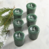 เทียนโวทีฟ [ Votive Candle] สีเขียวกลิ่นต้นสน [ Wreath ] 6 ชิ้นต่อแพ็ค