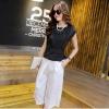 ชุดเซตเข้าชุดเสื้อ-กางเกง โทนสีดำ ขาว เรียบหรูดูดี สไตล์เกาหลี