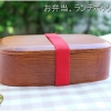Square Lacquered Hemlock Bento Boxกล่องข้าวญี่ปุ่นทรงสี่เหลี่ยมสีไม้คลาสสิค 1 ชั้น