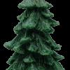เทียนต้นสนคริสมาสมีฐานไร้กลิ่น แบบ E: [24 cm / 542 g]