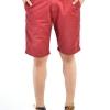 กางเกงขาสั้นผู้ชายสีแดงเลือดหมู ผ้าฟอกนิ่ม