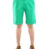 กางเกงขาสั้นผู้ชายสีเขียว ผ้าฟอกนิ่ม