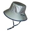 หมวกกันแดด กันยูวี UV Bucket ปีกรอบ มีสายคล้อง สีเงิน/น้ำเงินกรมท่า (ใส่ได้2ด้าน)