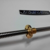 Lead Screw Dia 8mm Length 400mm และ Copper Nut (Pitch=2mm, Lead=8mm)