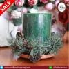 ชุดเทียนหอมทรงกระบอกสุดพรีเมี่ยม สีเขียว กลิ่น Wreath ขนาด 3 x 4 นิ้ว