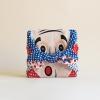 ผ้าห่อเบนโตะ Furoshiki ลาย Okame-เพื่อน สีฟ้า