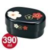 Plum Bento Box in Black - เบนโตะญี่ปุ่นลายดอกพลัม สีดำ
