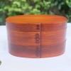 Bending Original Japanese Cedar Wood Bento Box (Small) กล่องข้าวญี่ปุ่นไม้ซีดาร์รุ่นดั้งเดิมรุ่นเล็ก 2 ชั้น