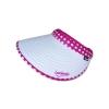 หมวกกอล์ฟ หมวกกันUV หมวกไวเซอร์ ผ้าDupont สีขาว (ลายจุด สีชมพูบานเย็น) by Season Tales