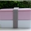 Microwave Japanese Lunch Box - กล่องข้าวญี่ปุ่นพลาสติก - สีชมพู