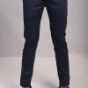 กางเกงสแล็คผู้ชายสีกรมท่า ผ้ายืด ทรงกระบอกเล็ก