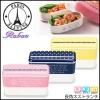 [Paris Palette] Length angle Bento Box - เบนโตะญี่ปุ่นทรงสี่เหลี่ยม ลายจุด