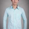 เสื้อเชิ้ตผู้ชายสีฟ้า ผ้า Oxford