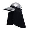 หมวกกันUV กันยูวี หมวกปิดหน้า ปิดคอ สีดำ มีผ้า2ชิ้น หมวกคลุมหน้า by Season Tales