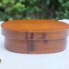Japanese Original Oval Lacquered Bending magewappa bento box กล่องข้าวญี่ปุ่นวงรีสีไม้คลาสสิค 1 ชั้น