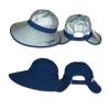 หมวกกันUV กันแดด ปีกกว้างพิเศษ ใส่ได้ 2ด้าน (สีเงิน/กรมท่า) by Season Tales