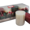 S/4 Holiday Value Set, Candle Ring, Acetate Box (Ivory / Red / Green) [กล่่องเหลี่ยมยาว Rectangle] สำเนา
