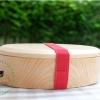 Oval Shiraki Hemlock Bento Box กล่องข้าวญี่ปุ่นรูปไข่สีไม้ 1 ชั้น