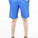 กางเกงขาสั้นผู้ชายสีน้ำเงิน ผ้าฟอกนิ่ม