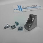 Bracket D28 สำหรับอลูมิเนียมโปรไฟล์ 2020 พร้อมชุดน็อตยึด T-Nut M5