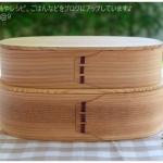 Oval 2 stages Shiraki bending magewappa bento box กล่องข้าวญี่ปุ่นวงรีสีไม้ 2 ชั้น