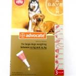 ยาหยดหลัง Advercate สุนัข size 10-25 kg