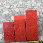 ทางลาดจิ๊กซอสีแดง ต่อหลายชิ้นเพิ่มความกว้างได้ ความสูง12,16,17cm