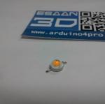 1W power LED แสงสี่เหลือง แรงดัน 3.2-3.4V อัตราความสว่าง 100-120LM