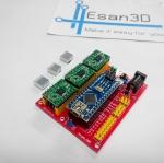 CNC Shield V4 + arduino nano + 3ชิ้น A4988 driver