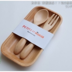 New Japanese Three-piece suit Spoon Fork Wood Set - ชุดช้อนส้อมไม้