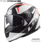 FF320 STREAM EVO COMMANDER WHITE BLACK RED