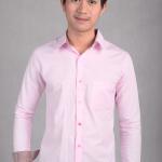 เสื้อเชิ้ตผู้ชายสีชมพู ผ้า Oxford
