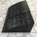 ทางลาดจิ๊กซอสีดำ ต่อหลายชิ้นเพิ่มความกว้างได้ ความสูง13,15 cm