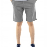 กางเกงขาสั้นผู้ชายสีเทาควันบุหรี่ ผ้าฟอกนิ่ม