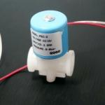 """12V Plastic micro solenoid valve 1/4"""" BSP"""