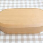Obaru Shiraki Hamlock bento box กล่องข้าวญี่ปุ่นทรงรียาวสีไม้ 1 ชั้น