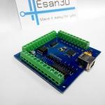 บอร์ด 4 Axis 100KHz USB Mach3 Breakout Board 12-24V