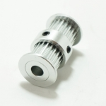 Double Head Timing Pulley 20 teeth for width 6mm belt (ใส่แกน 8mm)