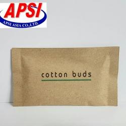 สำลีก้าน 4ชิ้น แพคซองกระดาษสีน้ำตาล(1.65บาท)