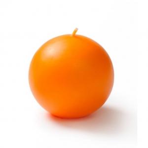 เทียนหอมลูกบอล [BALL CANDLE] กลิ่นส้ม (ORANGE) 3 ชิ้น ต่อแพ็ค