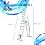 บันไดอลูมิเนียม ยืดหดได้ MX-D13 ทรงพาด ยาว 3.8 เมตร, ทรง A 3.8 เมตร thumbnail 10