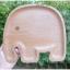 New Elephant Wood Plate Tray Dish - ถาดไม้รูปช้าง
