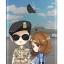 """[PRE-ORDER] Descendants Of The Sun - Jelly Phone Case """"Yoo Shi Jin & Kang Mo Yeon"""" (มีพื้นหลัง)"""
