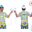 เข็มขัดนิรภัย Safety Harness Adela H4501 1D-Ring Double Lanyard thumbnail 1
