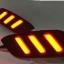 ไฟทับทิมกันชนท้าย HONDA CIVIC 2016-2017 แดง LED ทรง MUSTANG